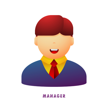 Manager. Avatar. Vector illustration. Flat. Gradient.  イラスト・ベクター素材
