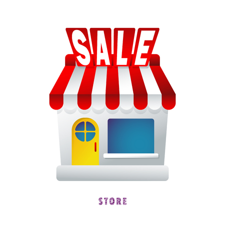 Webstore. Discount. Sale.  Vector illustration. Flat. Gradient.
