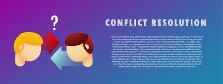 Conflict resolution.  イラスト・ベクター素材
