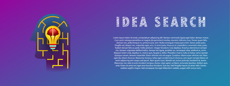 Idea search. Lamp in the maze.  イラスト・ベクター素材