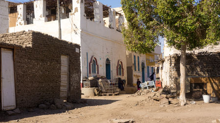ghetto: Egyptian ghetto, view from the entrance of the village