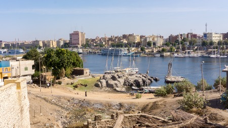 ghetto: Egyptian ghetto, a view from someones house to Nile river