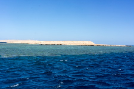 Red sea near Hurghada, beautiful view from the boat
