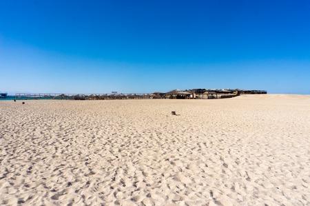 scenic spots: Paradise Island sand in Red Sea near Hurghada