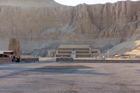 Recreated Hatshepsut Temple in mountains near Valley of Kingsin Egypt