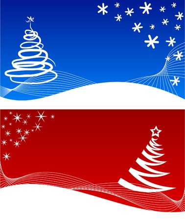 Two beautiful winter backgrounds. Vector illustration. Stock Vector - 2142183