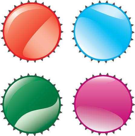 lids: Four lids. Vector illustration.