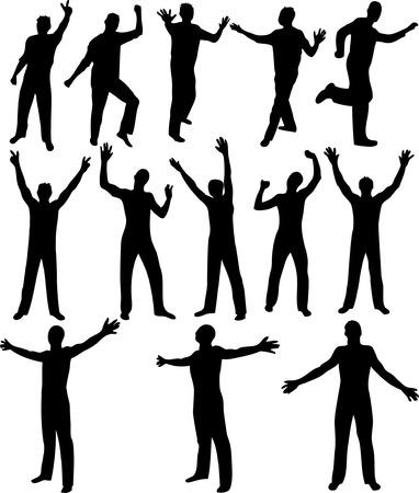 Black male silhouettes. Vector illustration. Stock Vector - 2142166