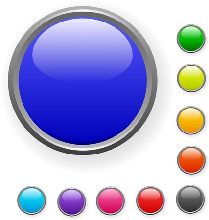 A lot of colorised buttons. Vector illustration.  Stock Vector - 2142177