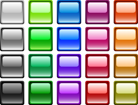 lot: A lot of buttons. Vector illustration.
