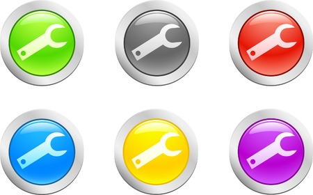 6 high-detailed buttons. Key button.  Vector illustration. Stock Vector - 2142176