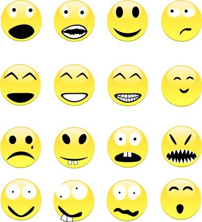 remplir: Emoticons contient remplir seulement. Toutes les courbes sont d�color�es. Illustration