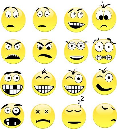 spachteln: Smileys enth�lt nur f�llen. Alle Kurven sind verf�rbt. Illustration