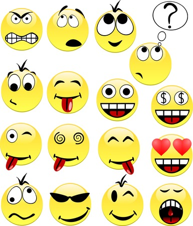 Smileys contains fill only. All curves are discoloured.
