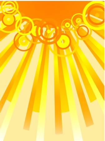 Sun and sunbeams. Vector illustration. Stock Vector - 2142217