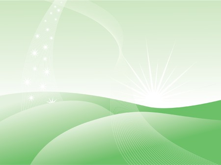 green lines: Abstract green background. Vector illustration.