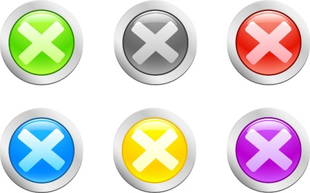 6 high-detailed buttons. Cross.  Vector illustration. Stock Vector - 2159629