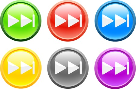 6 high-detailed buttons. Next.  Vector illustration. Stock Vector - 2159627