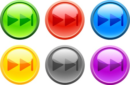 6 high-detailed buttons. Next.  Vector illustration. Vector