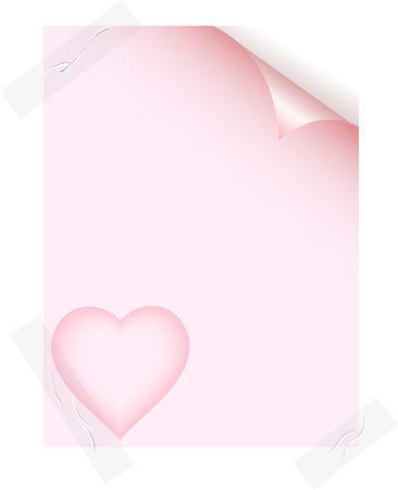 Empty love sheet. Vector illustration.  Vector