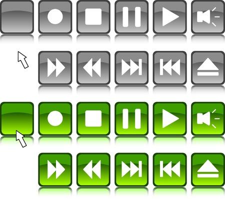 Set of media icons.  Vector illustration.  Stock Vector - 2492298