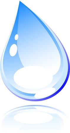 rippled: Bright goccia d'acqua. Illustrazione vettoriale.  Vettoriali