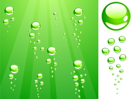 illustration vector: Green water with bubbles. Vector illustration.