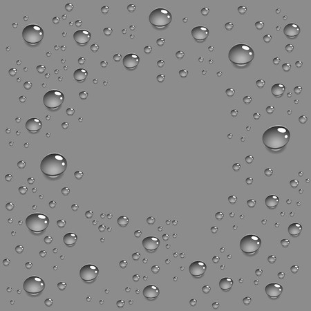 Surface with water drops. Vector illustration. Stock Vector - 2506604