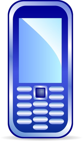Icon of mobile phone. Vector illustration. Vector