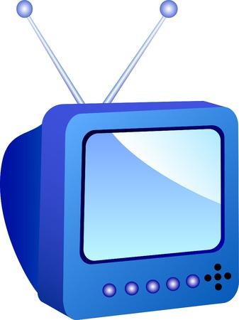 tvset: Icon of TV-set. Vector illustration.