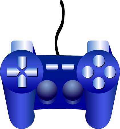 playstation: Icon of game-pad. Vector illustration.