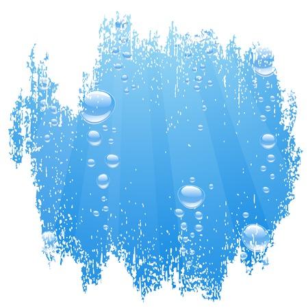Eau bleue avec des bulles. Illustration vectorielle.