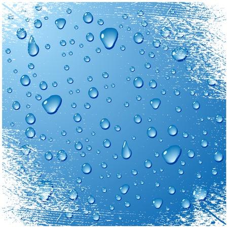 dews:  Beautiful grunge background. Vector illustration.