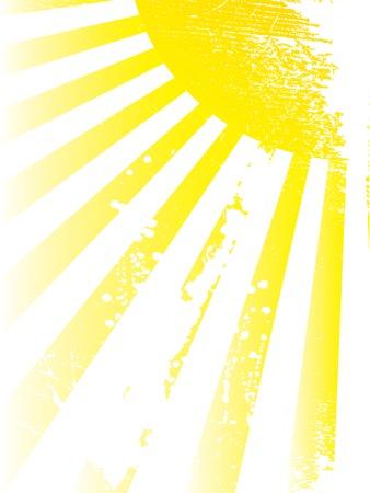 Sun and sunbeams. Vector illustration.