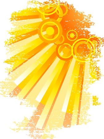 Sun and sunbeams. Vector illustration. Stock Vector - 2690374