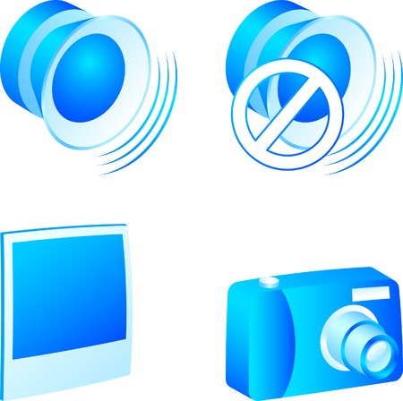Set of 3d media icons. Vector illustration.  Vector