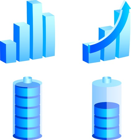 Set of 3d media icons. Vector illustration. Stock Vector - 2704191