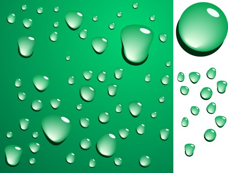 blends: Green wet surface. Blends are used.