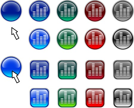 A lot of spectrum icons. Vector illustration.  Vector