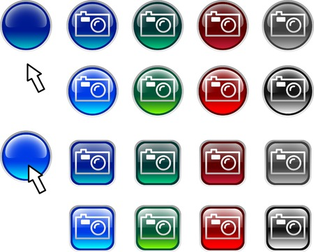 A lot of photo icons. Vector illustration.  Vector