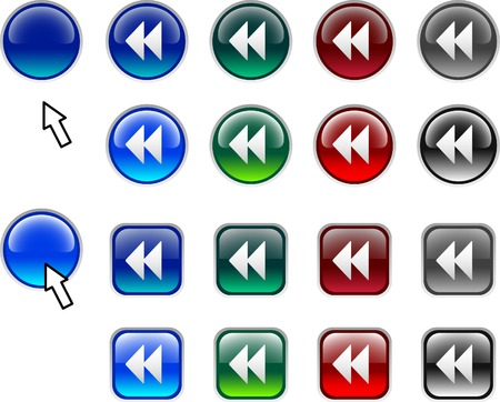 A lot of back icons. Vector illustration.  Vector