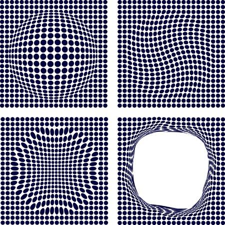 Blue half-tone backgrounds. Vector illustration.  Stock Vector - 2875891
