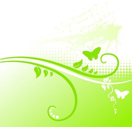 Grunge floral backdrop. Vector illustration.