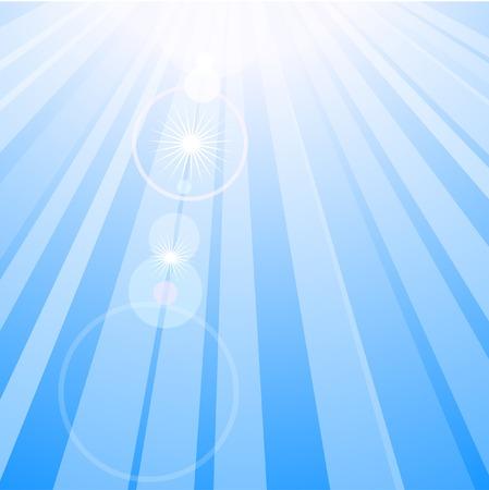 Flare in blue sky. Vector illustration. Stock Vector - 3123567