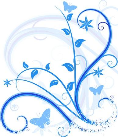 Floral grunge Hintergrund. Vector illustration.