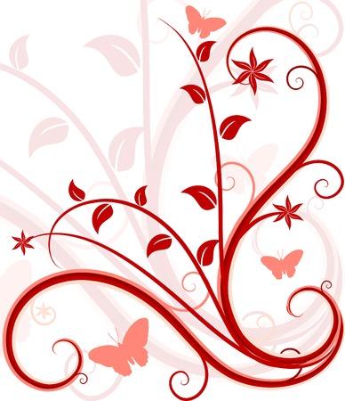Grunge floral backdrop. Vector illustration.  Vector