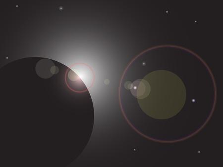 Flare in dark space. Vector illustration. Stock Vector - 3129066