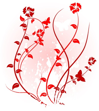 Pink floral backdrop. Vector illustration.  Illustration