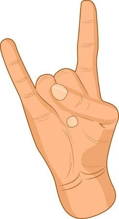 Punk male hand. Vector illustration.  Vector