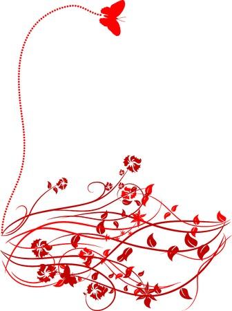 Green floral backdrop. Vector illustration.  Illustration